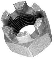 hex slotted castle nut