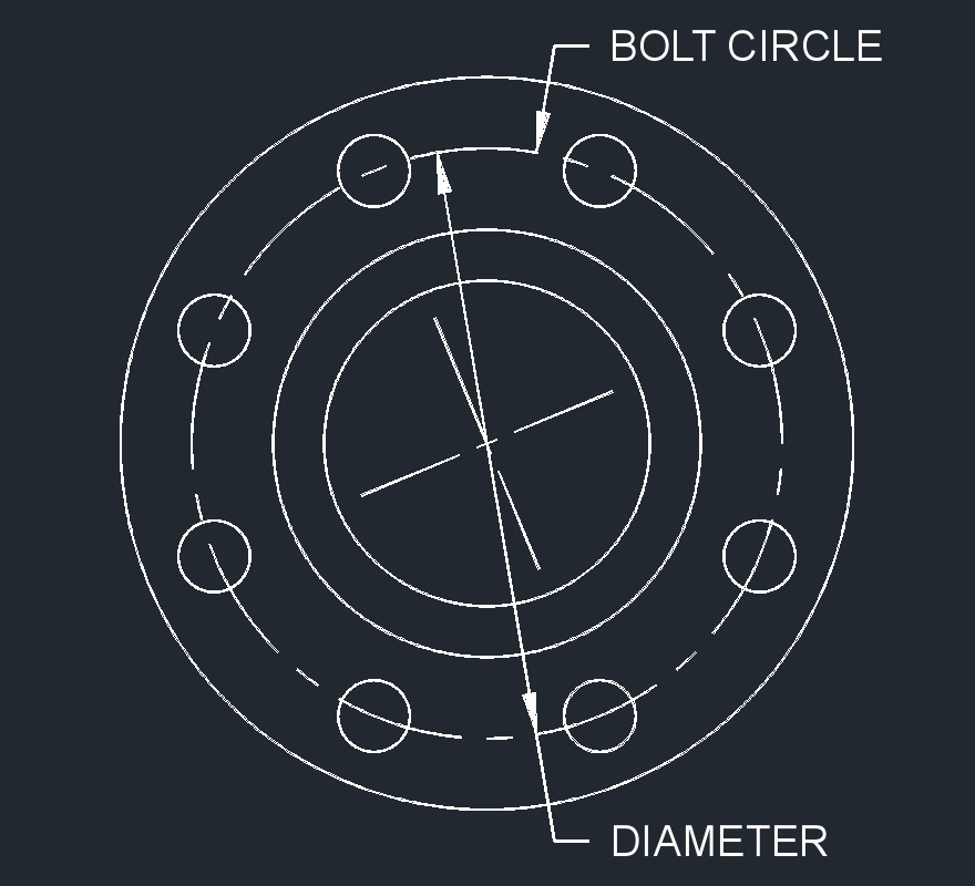 Bolt Circle Drawing