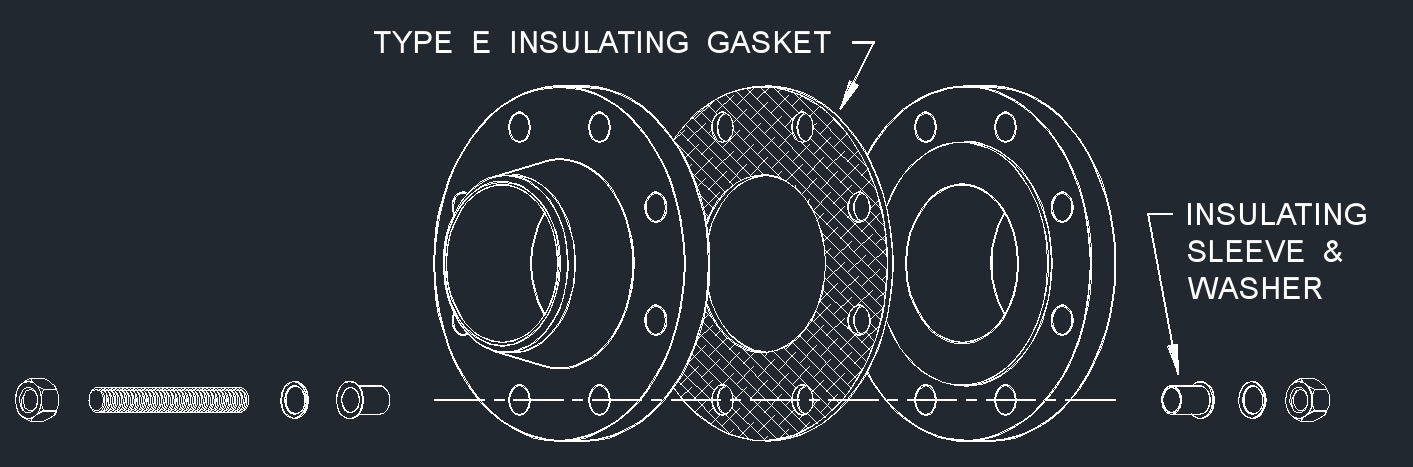 Dwg full face gasket isolation type e