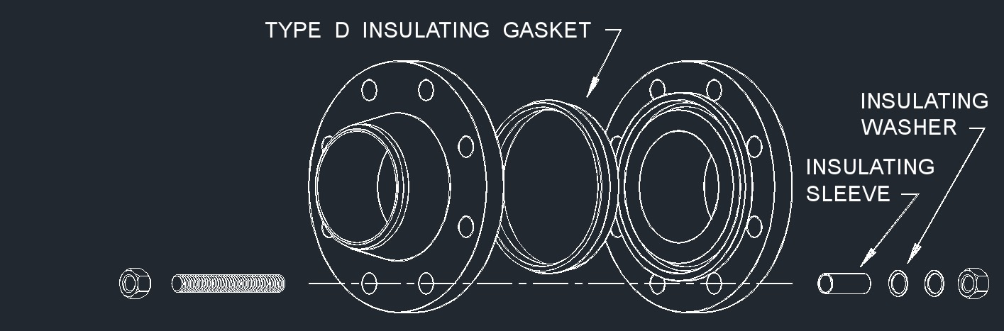 Dwg ring joint gasket isolation type d