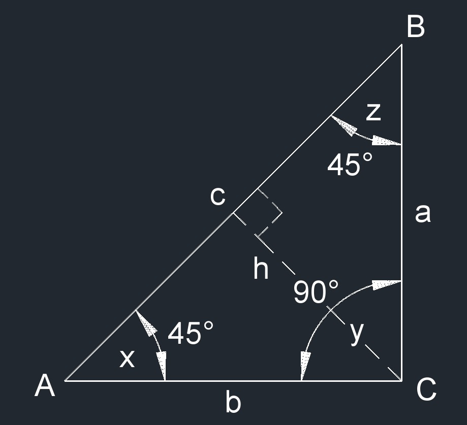 right isosceles triangle 1