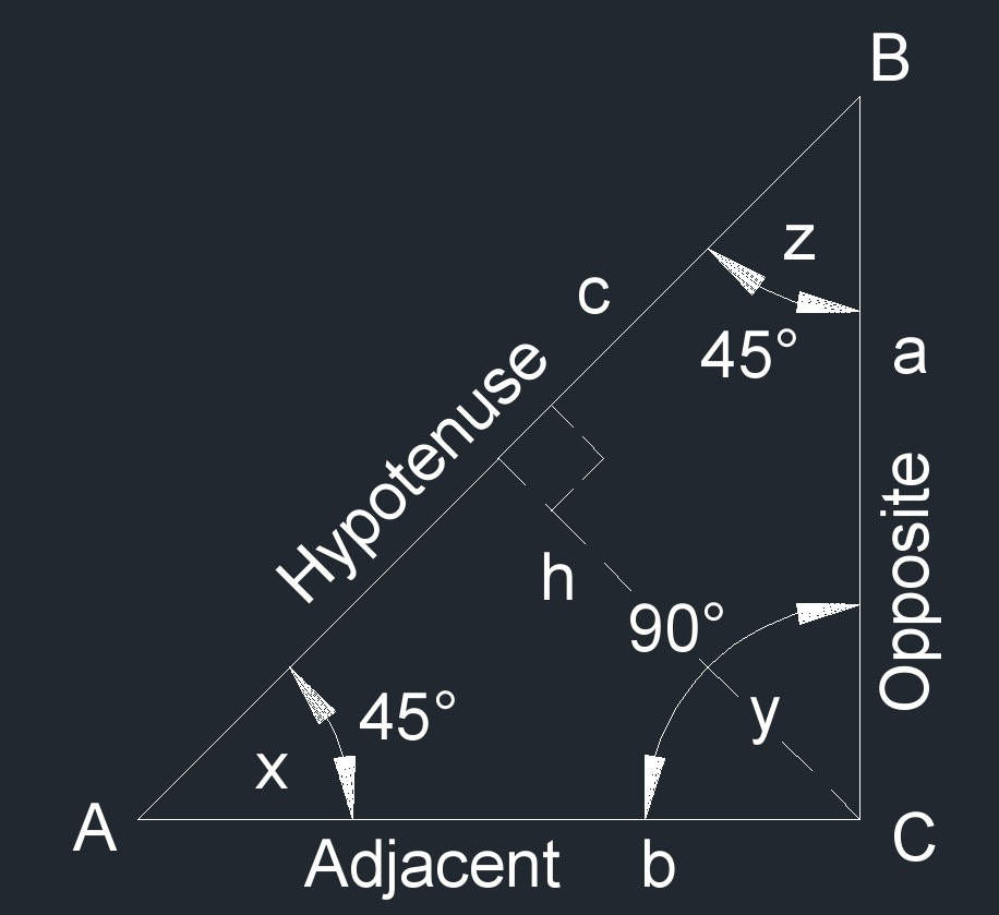 right isosceles triangle 2