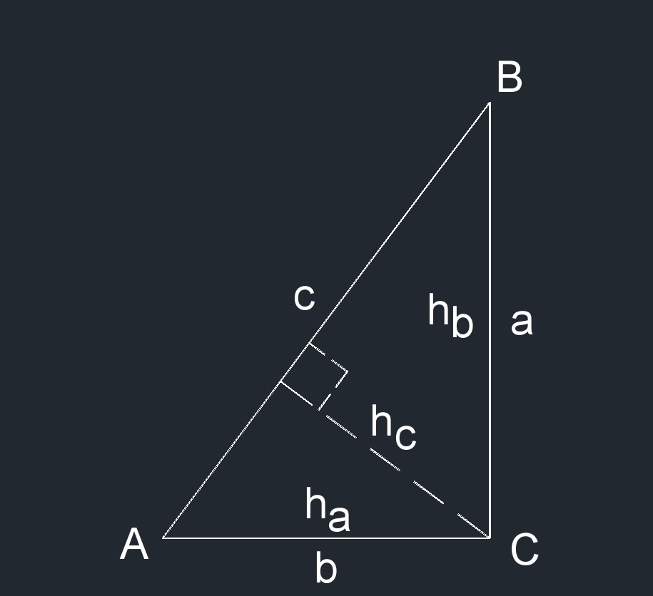 right triangle 5h a