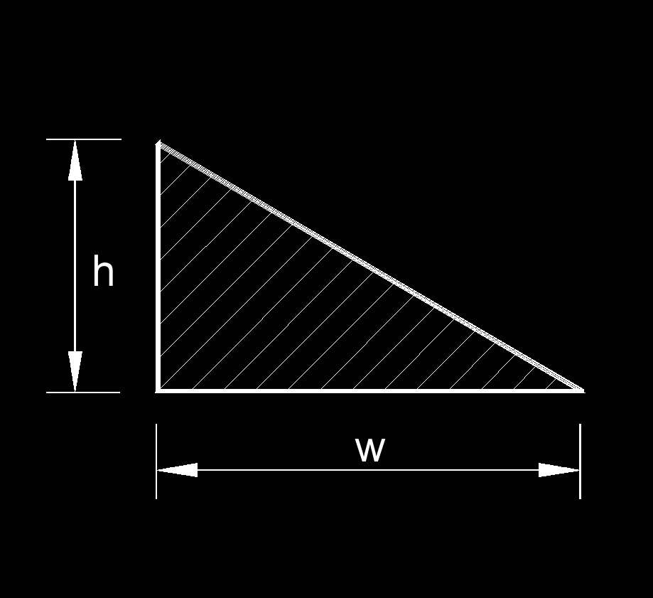 Hydraulic Diameter of a Right Triangle