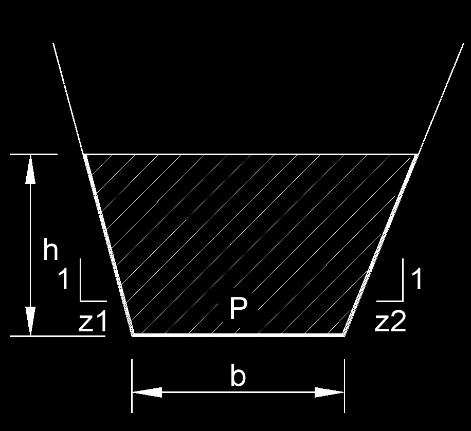 hydraulic radius of a trapezoid US 2