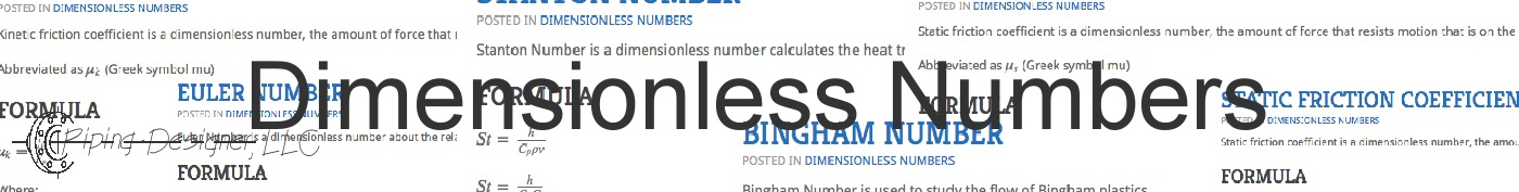 dimensionless numbers banner 2